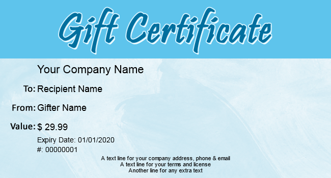 Doc484254 Sample Gift Certificate Template Sample Gift – Sample Gift Certificate Template